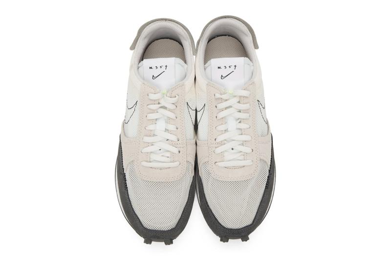 Nike Daybreak type n 354 White Black Topstitched Swoosh Release low top sneakers panelled suede Logo patch