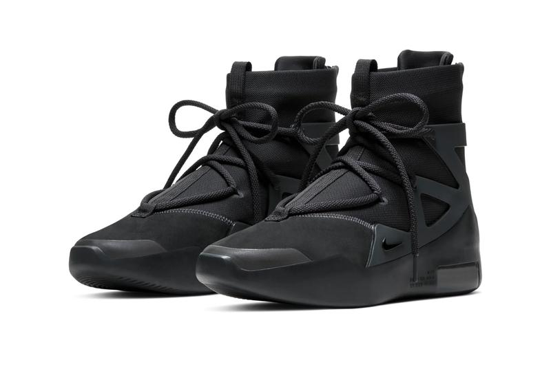 Nike Air Fear of God 1 Triple Black Official Look Release Info AR4237-005 Jerry Lorenzo