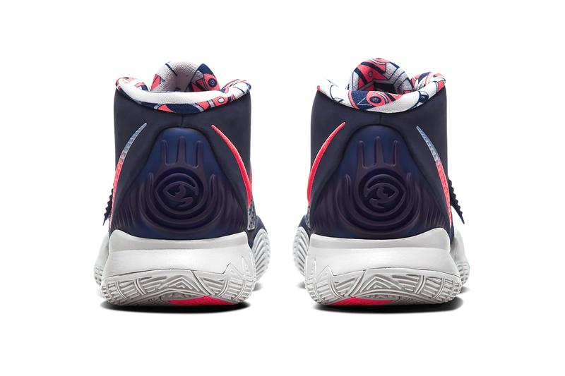 Nike Kyrie 6 Midnight Navy Psychic Blue Laser Crimson Release Info BQ4631-402 playing cards nba national basketball association kyrie irving brooklyn nets