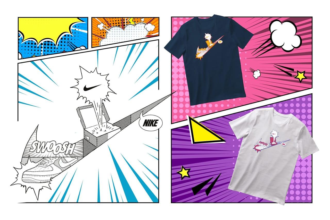 Pop Art, Cartoon Personalised Custom Printed Bubble Font Ladies Fit T-Shirt