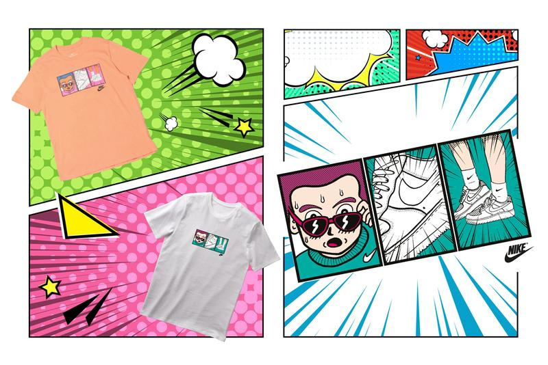 Nike Manga T-Shirt Collection Release Info Air Force 1 Shoebox Basketball Hoop Comic Strips Speech Bubble Swoosh