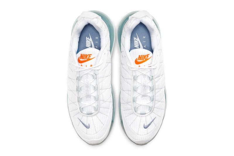 Nike MX 720 818 Indigo Fog Pure Platinum Release CT1266 100 shoes astronaut suit space suit nasa techwear Nike Air Max Bubble footwear sneakers kicks