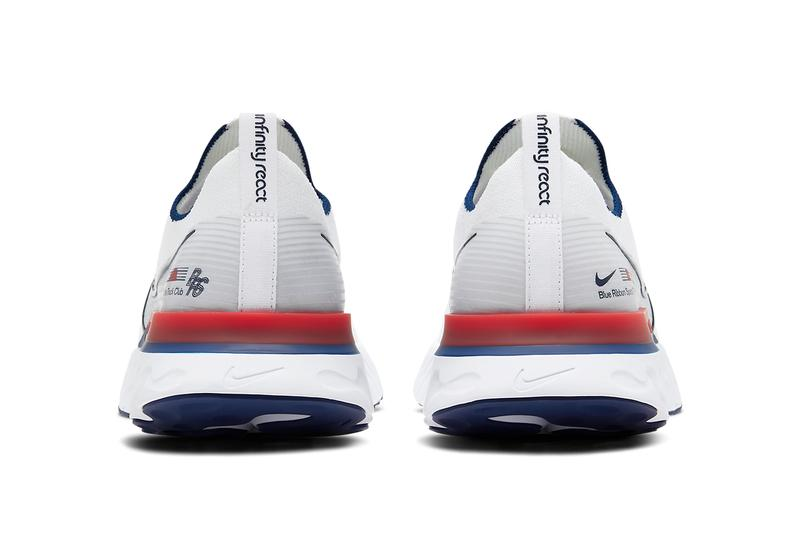 nike react infinity run blue ribbon sports brs white blue track red CW7597 100 release date info photos price