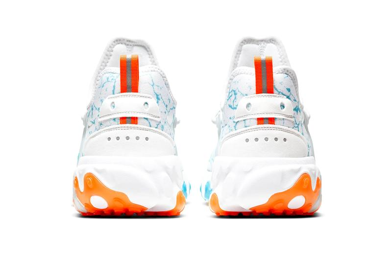 Nike React Presto Premium Aura Blue Fury total orange white menswear streetwear spring summer 2020 collection shoes footwear kicks runners trainers sneakers swoosh CN7664 100
