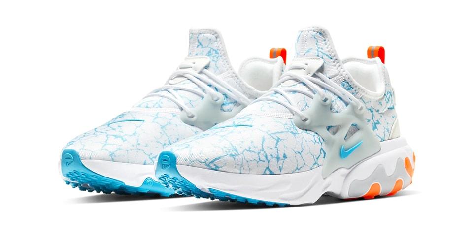 "Nike's React Presto Premium Gets Electrified in ""Aura/Blue Fury"""