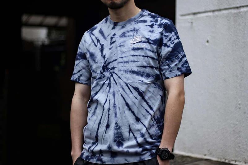 nike summer 2020 tiedye tie dye hoodie tshirts t shirt cropped tee midnight navy obsidian mist light cream sail