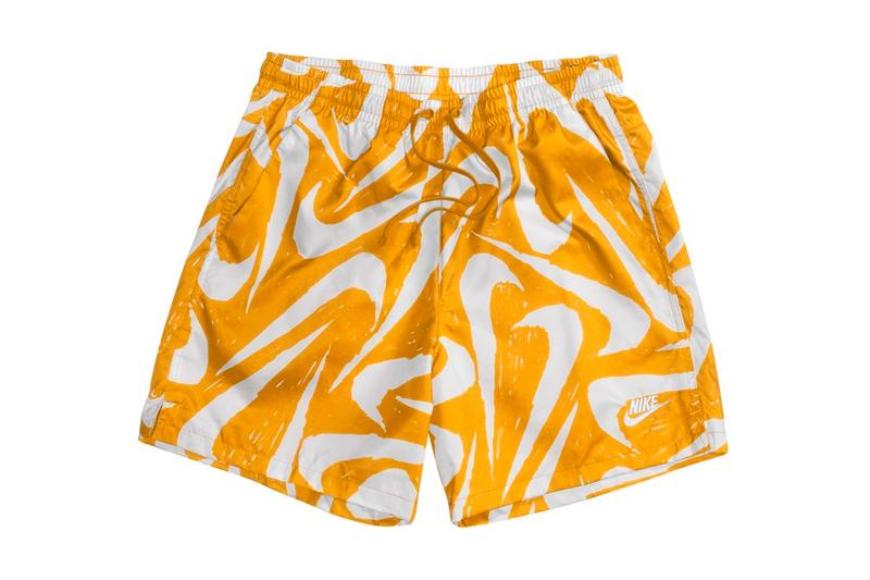 Nike Swoosh Logo Swim Shorts Release Info Buy Price Black Red Gold University