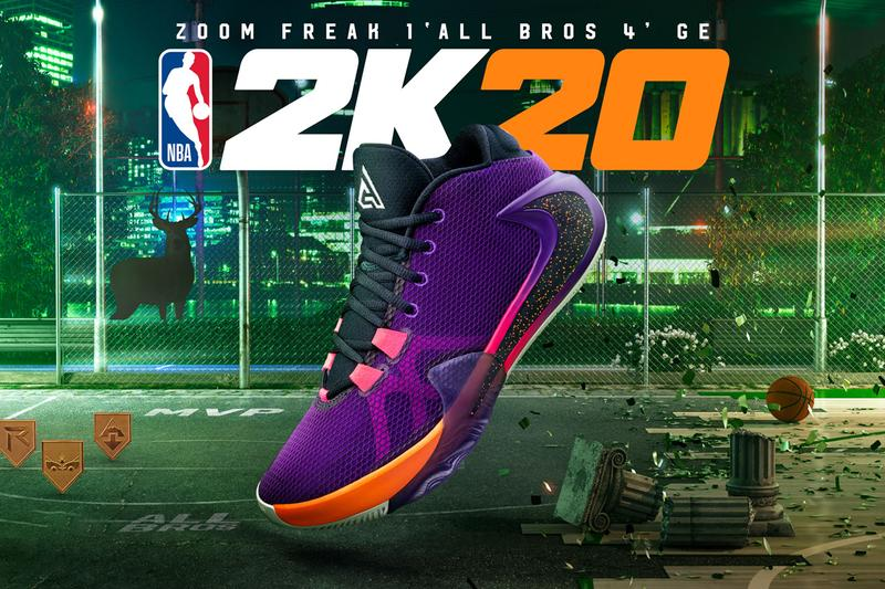 nike zoom freak 1 all bros 4 nba 2k20 purple orange pink black giannis antetokounmpo release date info photos price unlockable my player nation