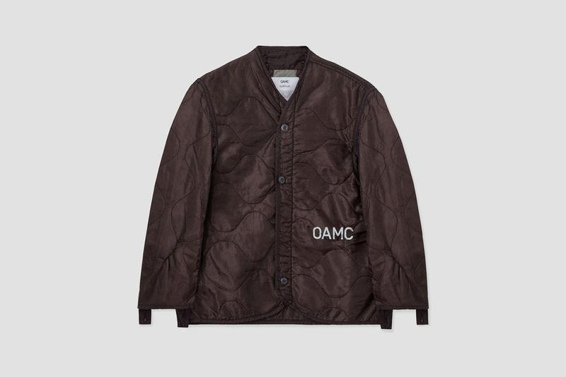 OAMC Charitable Peacemaker Liner COVID-19 Quilted U.S. Military Surplus M-65 Jacket Bordeaux Italian Civil Protection Department