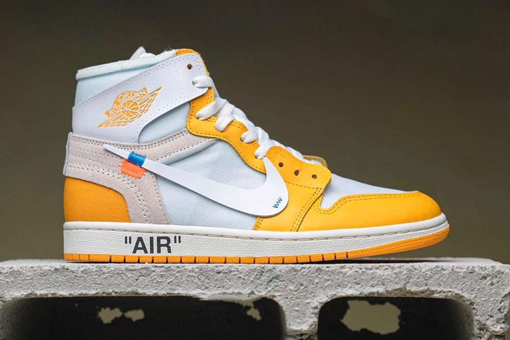Off White X Air Jordan 1 Canary Yellow Detailed Look Hypebeast