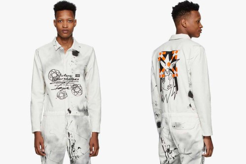 Off-White™ and Futura Craft Paint-Splattered Boiler Jumpsuit