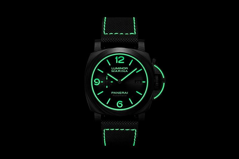 Panerai Release Stealthy Carbotech Luminor Marina Watch 70th anniversary Italian Navy Dive Watch Carbon Fiber PAM PAM1118 Watches Swiss made Dive Watches wrist watches