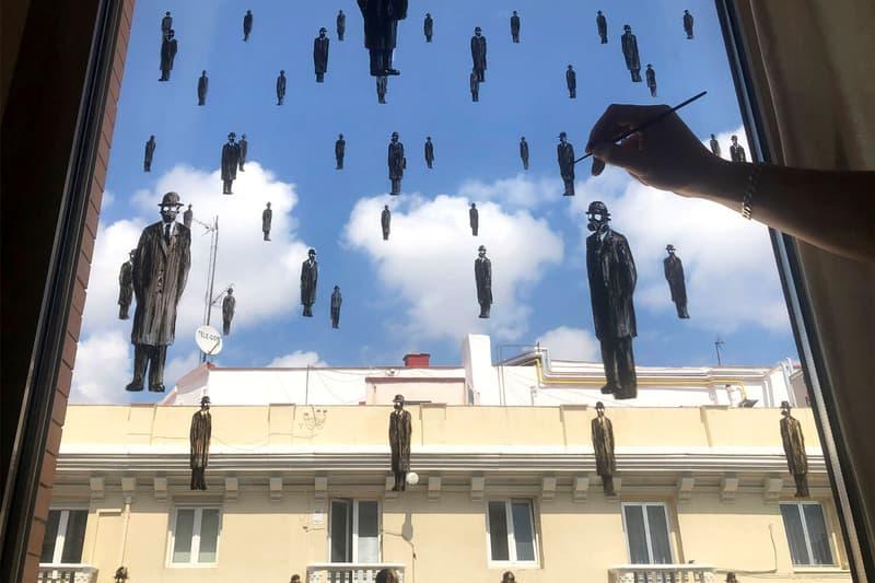 Pejac #STAYARTHOMEPEJAC Global Campaign Window Drawings Instagram Outdoors Buildings