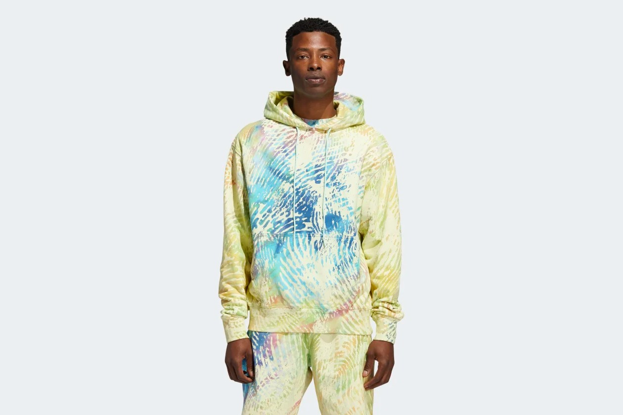pharrell adidas originals march madness basketball collection tie dye hoodie shirt shorts 0 to 60 stmt crazy byw 2 nizza continental 80 stan smith campus sc premiere release date info photos price
