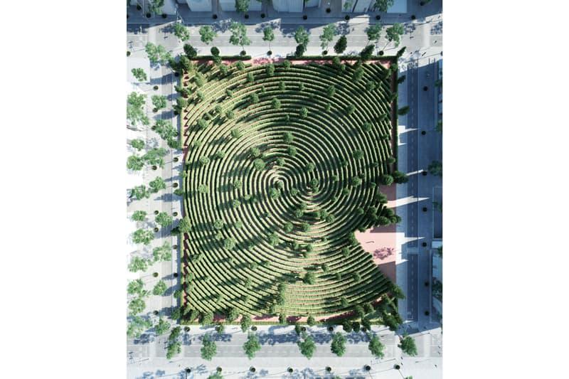 Precht Parc de la Distance Outdoor Social Distancing Park Maze Hedges Vienna Austria Design