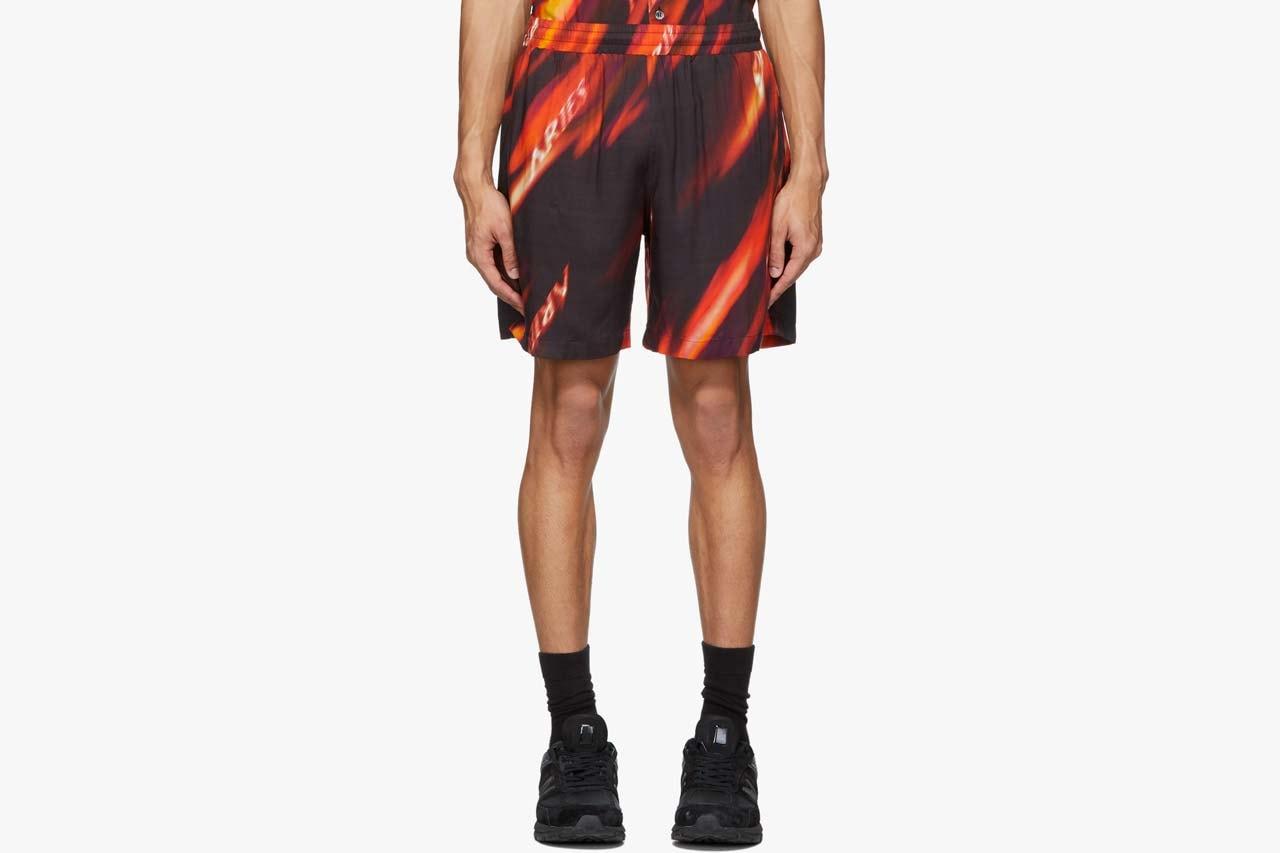 mens printed short sets spring summer 2020 print button ups bowling shirts shirt loungewear