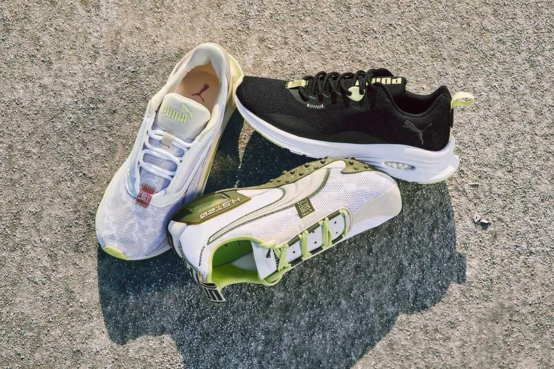 First Mile x PUMA Second Sustainable Footwear Collection Earth Day LQD CELL Sneaker Shorts Shirts Tank Tops Camouflage Green Black Pink Hydra Camo Shatter Camo