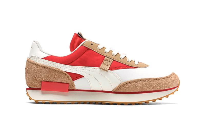 "PUMA Future Rider Game On ""Whis White/Pebble/High Risk Red"" 371320_02 Rider Foam 1980 Inspiration Tom Sachs Mars Yard Colorway Footwear Sneaker Release Information Drop Date"