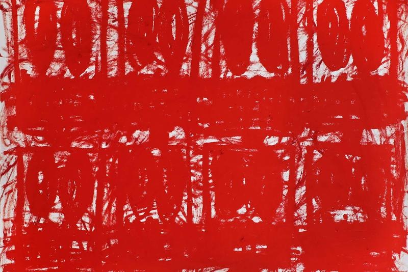 rashid johnson untitled anxious red drawings hauser wirth online viewing room exhibition