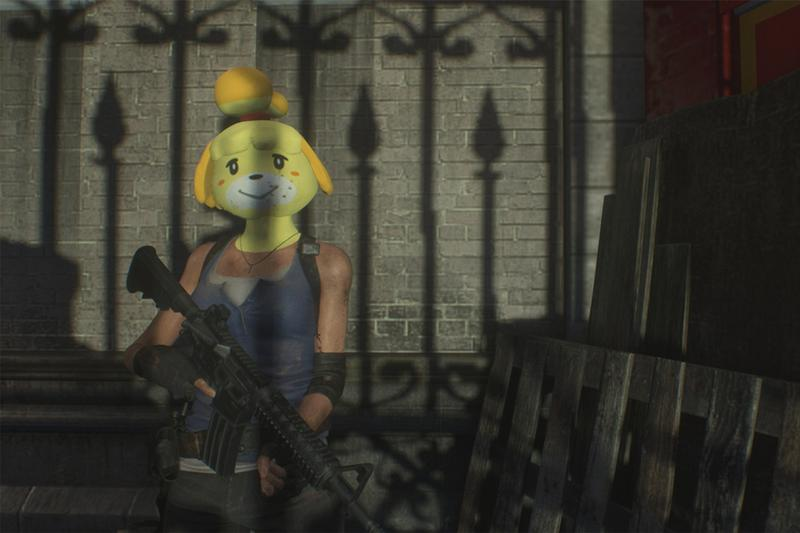 resident evil 3 jill valentine nemesis animal crossing isabelle mod custom skin mask games video game