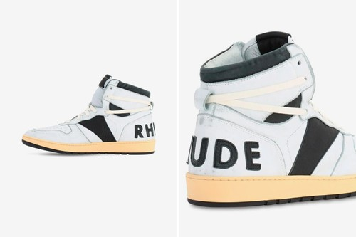 "RHUDE's Retro RHECESS-HI Sneaker Arrives in ""White/Black"""