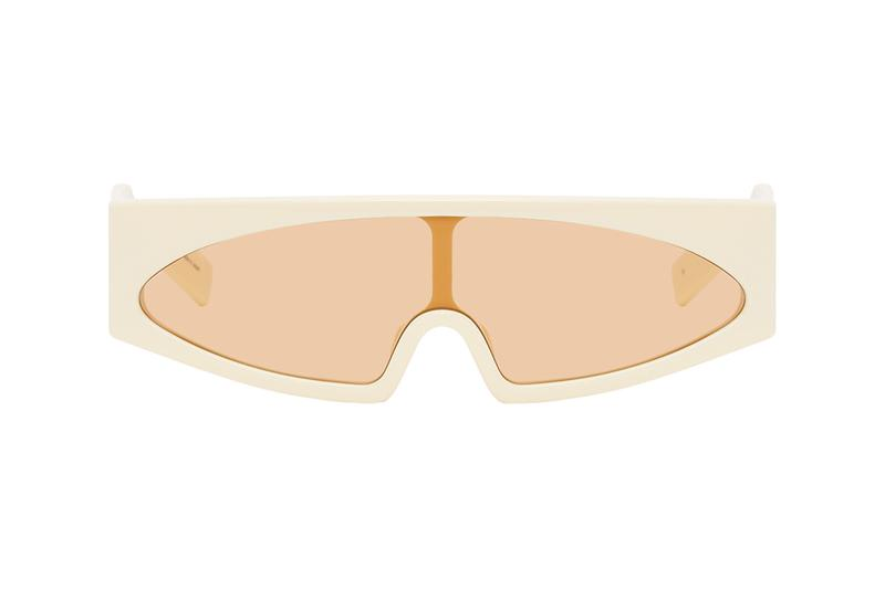 Rick Owens Kiss Sunglasses Colorways Release Information SSENSE Cop Drop Online Shopping SS20 Eyewear Off-White & Orange Black Pink Silver Lenses Avant Garde Futuristic TECUATL Runway SS20