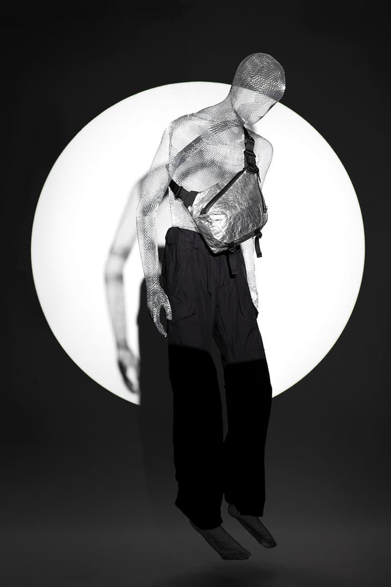 """SEALSON """"Nonidentity"""" 2020 Bag Collection Lookbook Campaign Water Resistant Gray Black Dyneema Cordura Waist Bag Side Shoulder"""