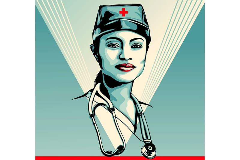 Shepard Fairey x Adobe Guts Not Glory Digital Art News Covid-19 AaronDraplin Donna Adi Jessica WalshIgnasiMonrealphotoshop illustrator