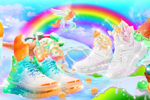 """SHOES 53045 Drops All-New Bump'Air High Top in Gradient """"Astropop"""" & White"""