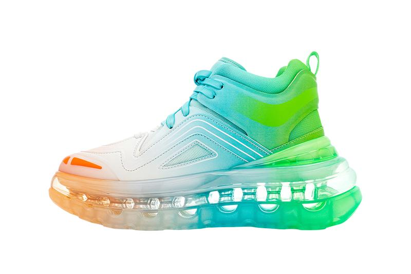 """SHOES 53045 Bump'Air High Top """"Astropop"""" & White Sneaker Drop Footwear Release Information Midtops David Tourniaire-Beauciel COVID-19 Student Resource Food Fund,"""