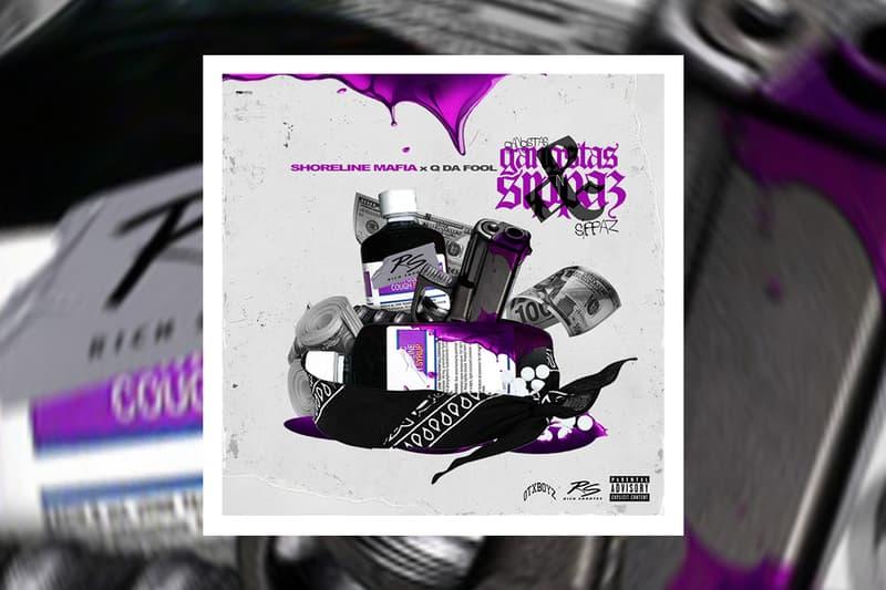 """Shoreline Mafia """"Gangstas & Sippas"""" Feat. Q Da Fool single stream hip-hop rap bay area los angeles"""