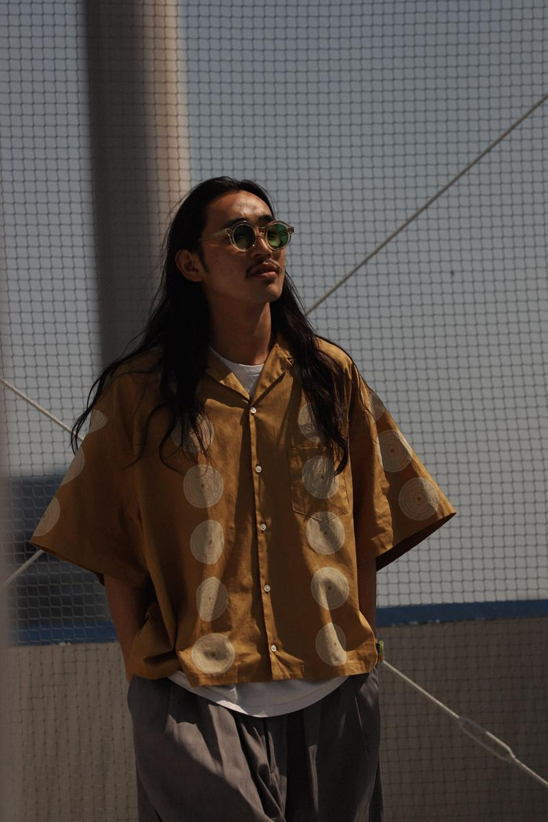 Sillage Drop 1 Summer 2020 Collection Japanese calligrapher Ryo Koizumi Nicolas Yuthanan Chalmeau silhouettes artful open collar shirt oversized denim pants ventile Sahara hats