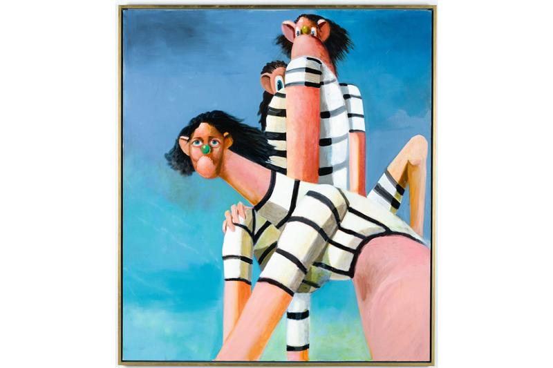 Sotheby's 'Contemporary Curated' Sale Auction Record George Condo 'Antipodal Reunion' (2005) Painting