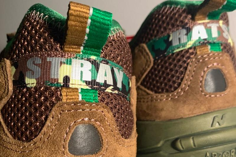 stray rats new balance 827 collaboration teaser toasty brown green red purple Julian Consuegra