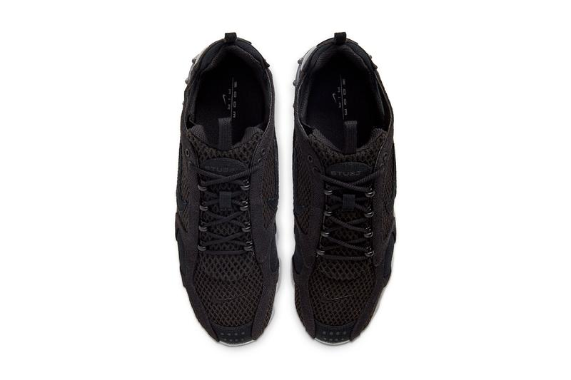 """Stüssy x Nike Air Zoom Spiridon Cage 2 """"Black"""" Release Info collaboration sneaker  CD0461_007 snkrs"""