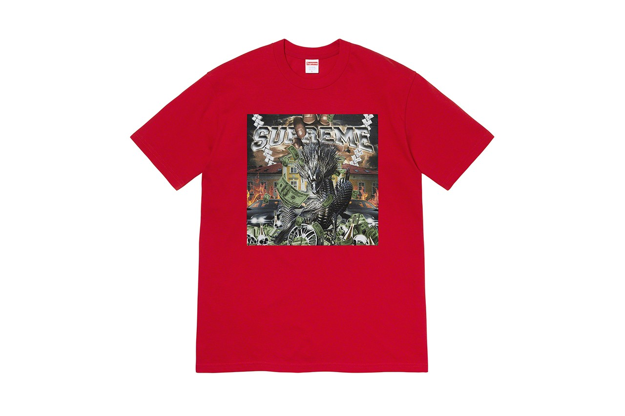 Supreme Spring 2020 T-Shirts Tees drop seven new graphics tie dye kiddie ride dinosaur hand painted boat ufo everything is shit graphic