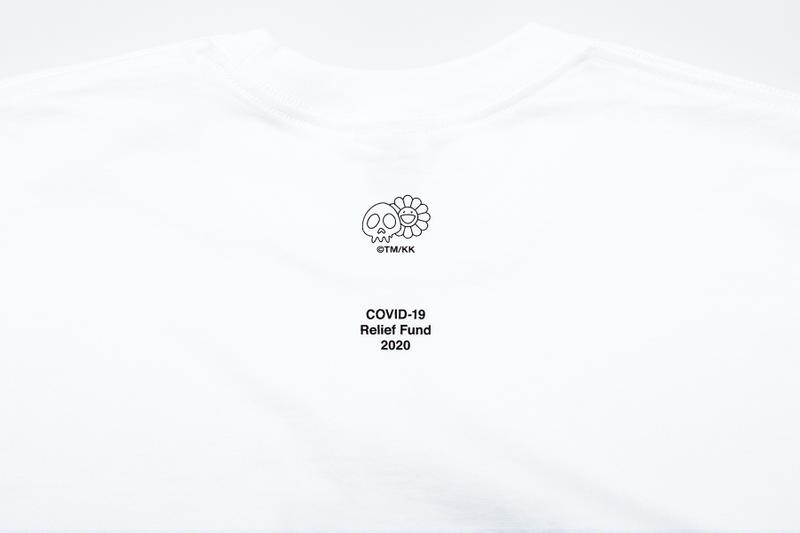 Takashi Murakami Supreme Charity Box Logo Tee collaboration covid 19 coronavirus relief support