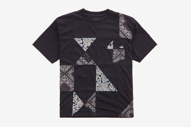 THE NORTH FACE PURPLE LABEL Quilted Patchwork T shirt tees nanamica menswear streetwear spring summer 2020 collection essentials deconstructed bandana print paisley