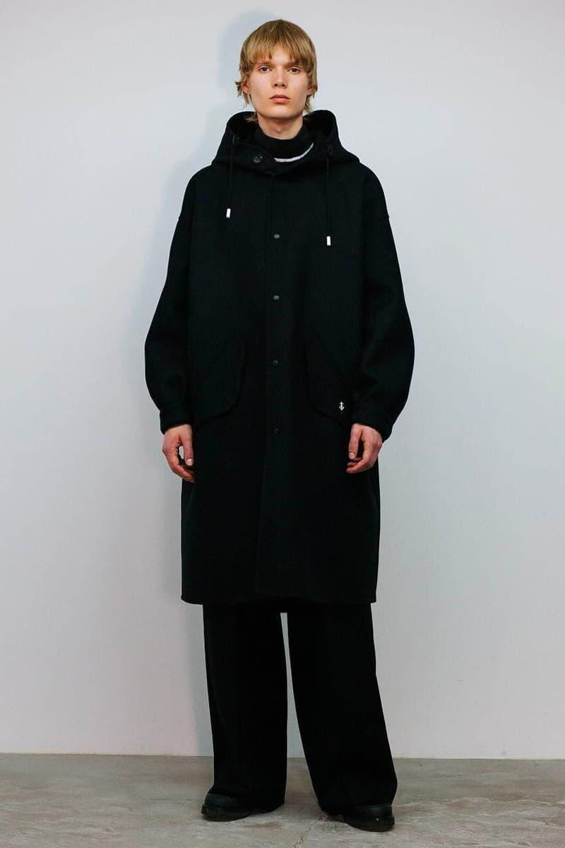 THE RERACS Fall Winter 2020 21 Collection menswear streetwear lookbook essentials minimal basics sweaters jackets crewnecks pants trousers japanese designer