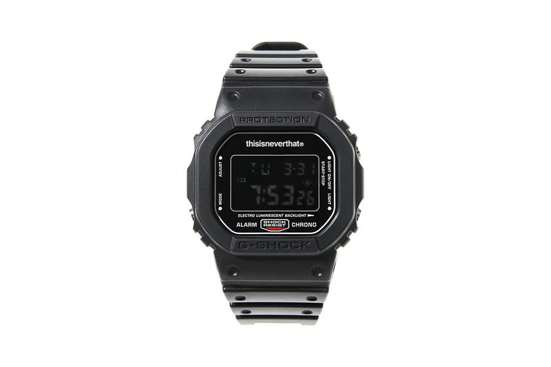 thisisneverthat x Casio G-Shock DW-5600TNT-1DR T-Shirt Special Edition Capsule Pack Freebies Release Information Drop Blacked Out Watch Timepiece