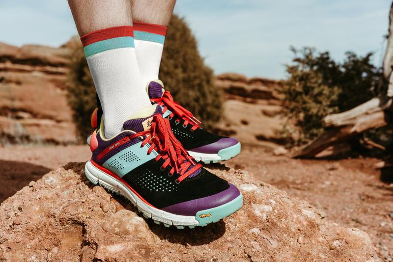 Topo Designs & Danner Trail 2650 Collab Purple Red Blue Black Speckled Vibram Sole Mesh Mountain Sport Style 1990s