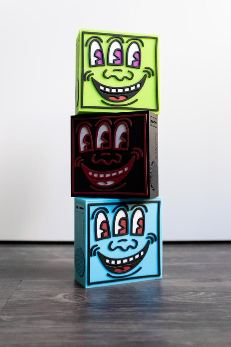 keith haring speakers toyqube release artworks electronics