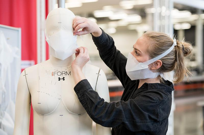 Under Armour Volunteers Produce Protective Gear COVID-19 Coronavirus Relief no sew one piece face masks shields fanny packs University of Maryland Medical System UMMS health care providers LifeBridge