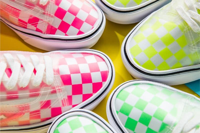 vans comfycush slip skool neon pink green yellow checkerboard release date info photos price