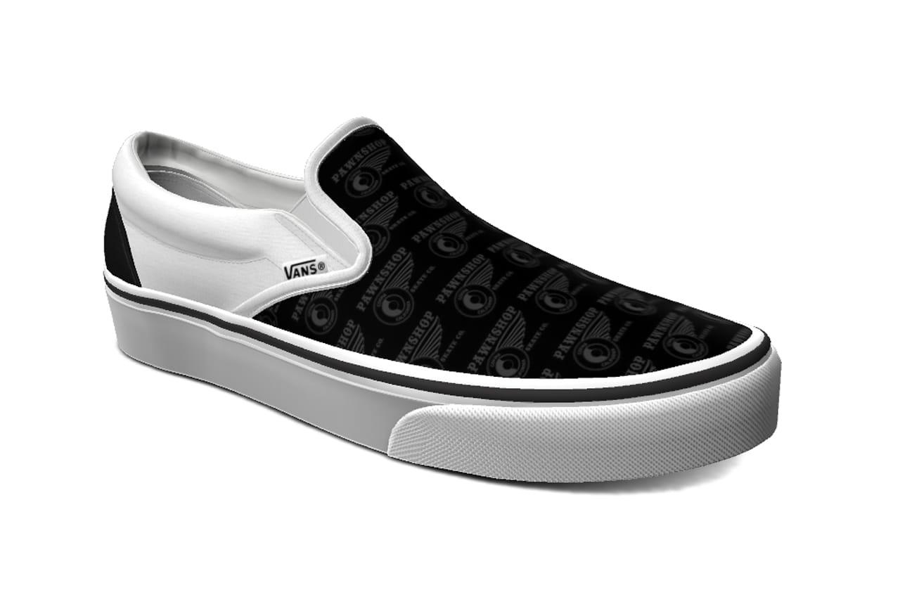 black slip on vans on feet