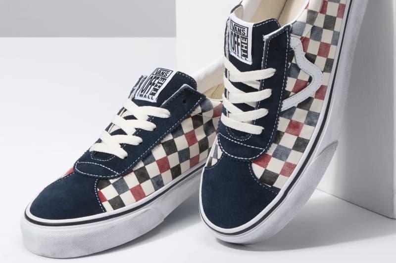 "Vans Washed Distressed Sneaker Pack Authentic Slip On Sport Model Footwear Vulcanized Skateboarding Footwear Shoes Checkerboard Pattern ""Dress Blue/Chili Pepper"" ""Black/Multi"""