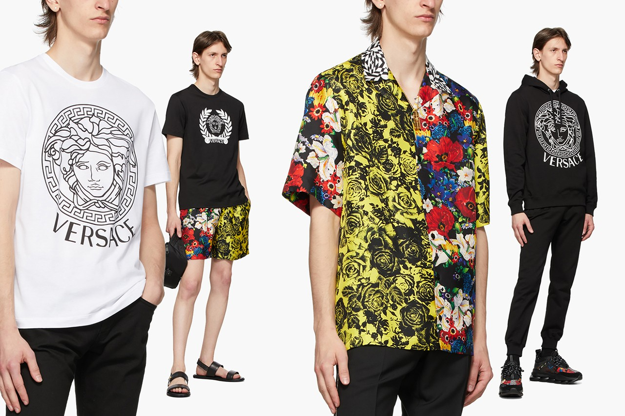 Versace for SSENSE SS20 Menswear Collection spring summer 2020 apparel clothing medusa head accessories clothing footwear chain reaction sneaker