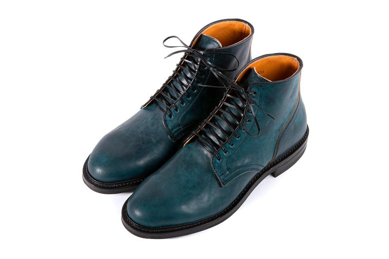 Viberg Intense Blue Tumbled Shell Cordovan Release Boots Service Boots Derby Shoes leather Dainite Goodyear Welt footwear dress shoes handmade craftsmanship