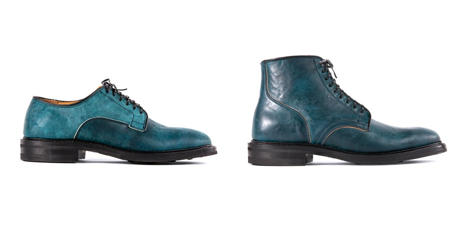 Viberg Crafts Intense Blue Tumbled Shell Cordovan Capsule