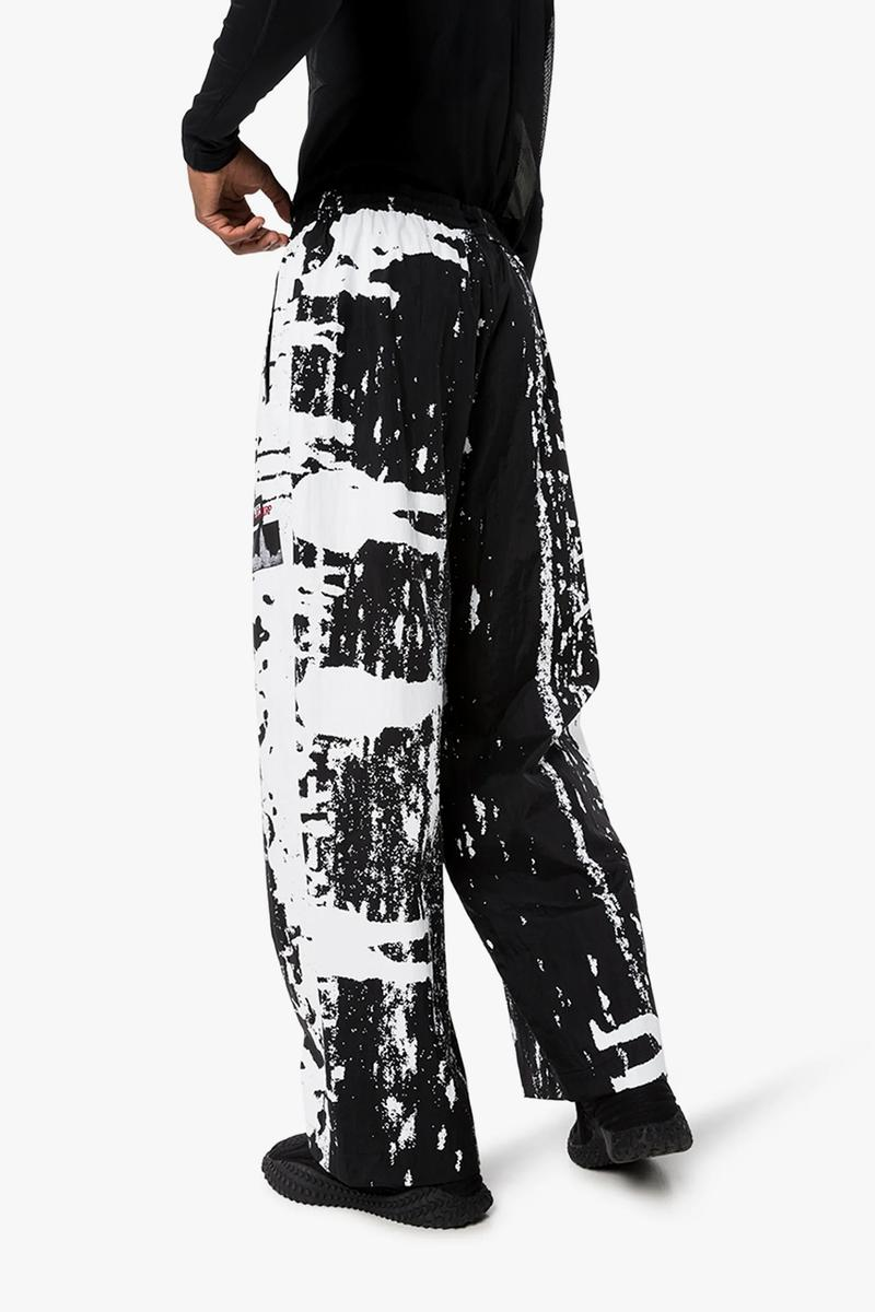 VIER x th Graphic Print Coat Taro Horiuchi coat paint trousers graphic menswear streetwear spring summer 2020 collection antwerp designer black white monochromatic
